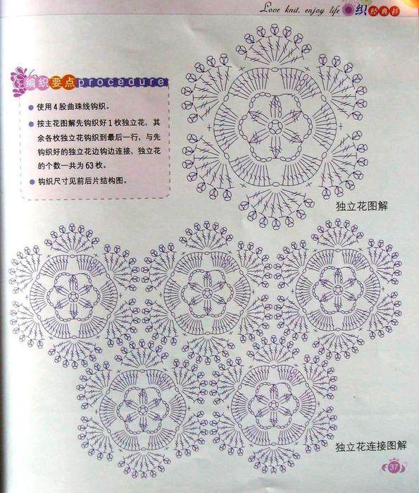 Описание вязание японские мотивы