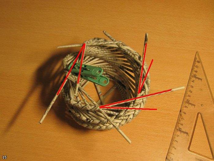 Спиральное плетение из газетных трубочек мастер класс фото