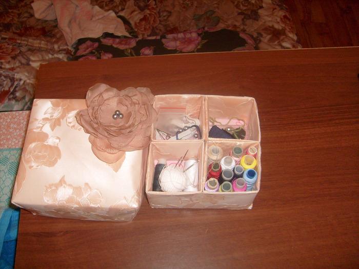 Как сделать своими руками коробку для швейных принадлежностей