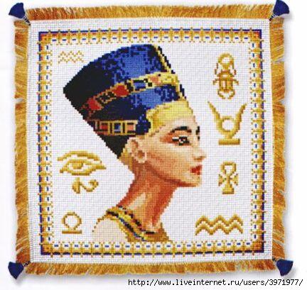 Схемы для вышивки крестом Узоры Цветы Египетские мотивы.