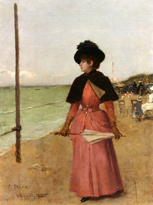 Ernest Ange Duez (Ernest Ange Duez) (1843-1896)an_elegant_lady_on_the_beach- (524x700, 146Kb)