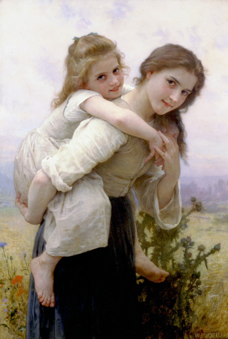 Adolphe William   Bouguereau= Not Too Much to Carry (471x700, 131Kb)