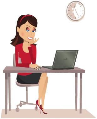 женщина за компьютером (309x380, 26Kb)