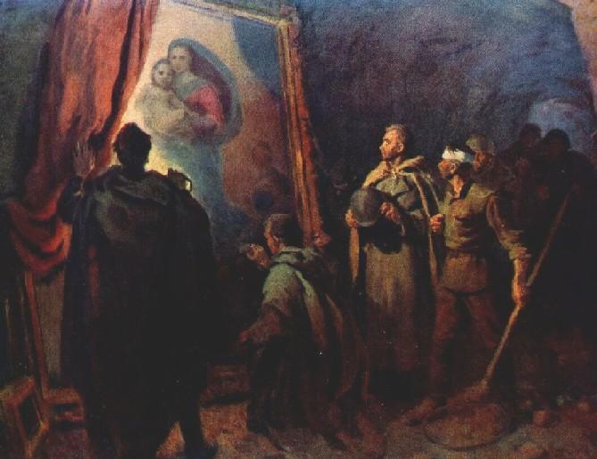 Ю. Ятченко. С мечтой о мире. Спасение шедевров Дрезденской галереи. (Обнаружение «Сикстинской мадонны» Рафаэля в 1945 году)