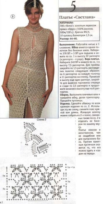 Вязание крючком платья сарафаны летнего схемы