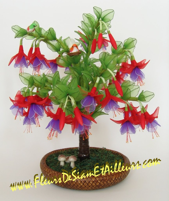 Цветы из капрона светильники своими руками