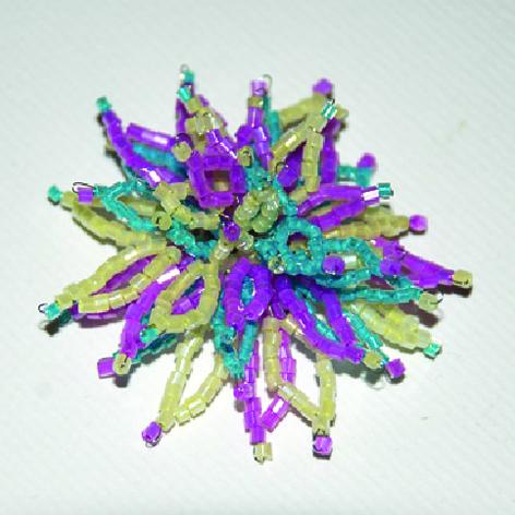 Как делать украшения из бисера цветы Бисероплетение.