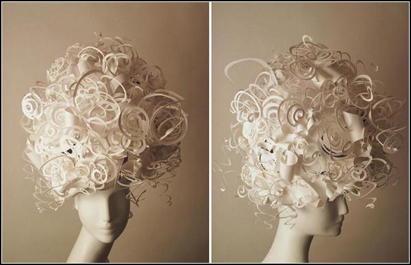 Причёски из бумаги как сделать