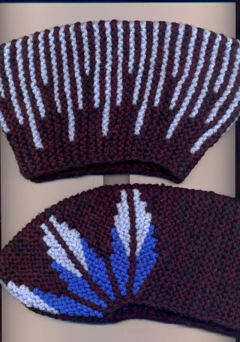 Тапочки укороченными рядами: вязание на спицах. Мастер-класс