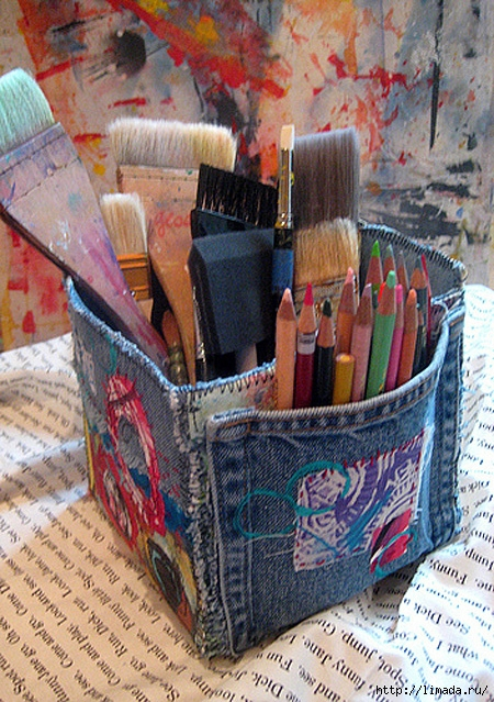 Art-Supplies-Denim-Storage-Container-2 (450x639, 321Kb)