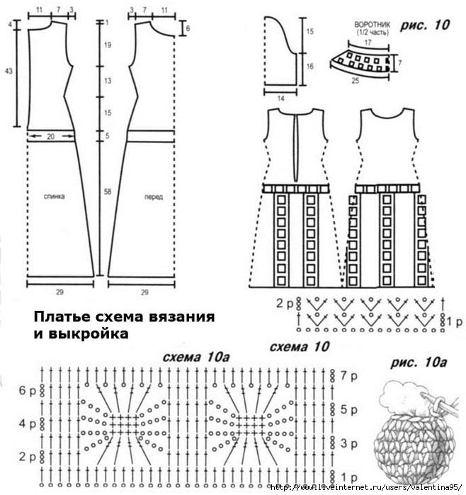Вязанные изделия с выкройками