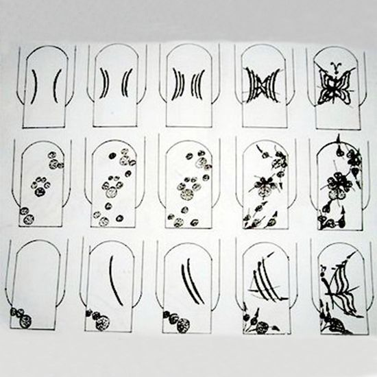 Рисунок на ногтях  схема