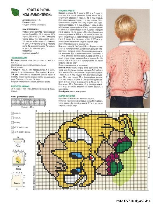 Вязание спицами схемы по рисункам детям описание рисунков