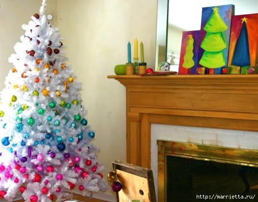 Самые красивые рождественские идеи. Елки в интерьере (2) (526x412, 153Kb)