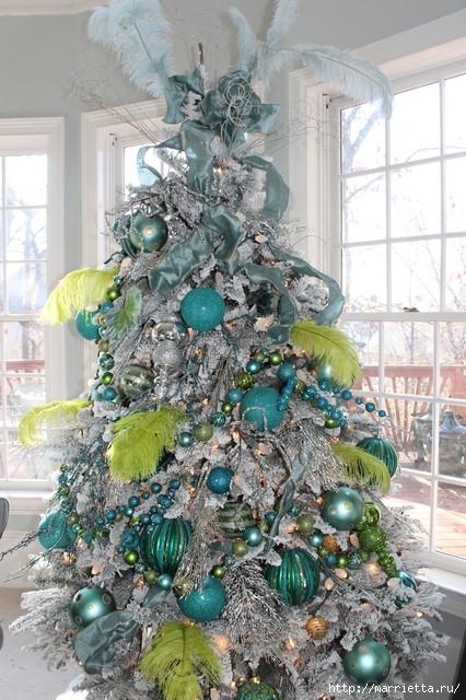 Самые красивые рождественские идеи. Елки в интерьере (4) (426x640, 251Kb)