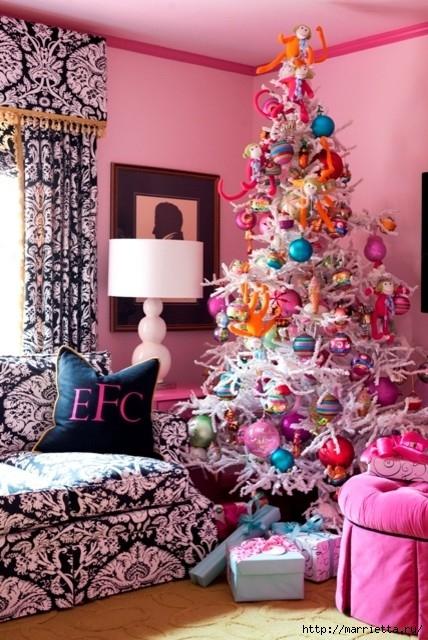 Самые красивые рождественские идеи. Елки в интерьере (5) (428x640, 226Kb)