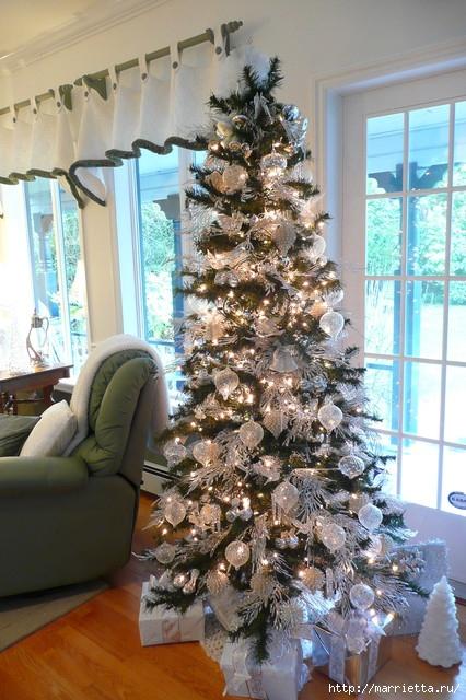 Самые красивые рождественские идеи. Елки в интерьере (7) (426x640, 238Kb)