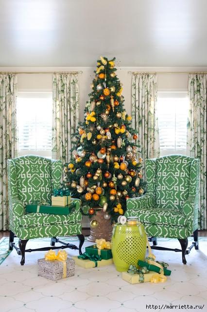 Самые красивые рождественские идеи. Елки в интерьере (10) (426x640, 236Kb)