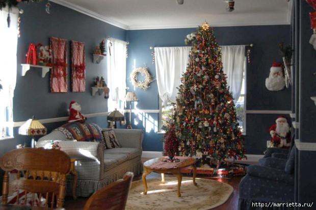 Самые красивые рождественские идеи. Елки в интерьере (13) (620x412, 160Kb)