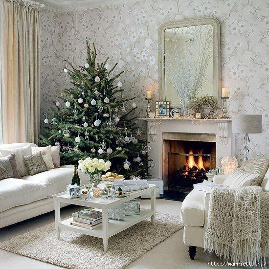 Самые красивые рождественские идеи. Елки в интерьере (17) (550x550, 245Kb)