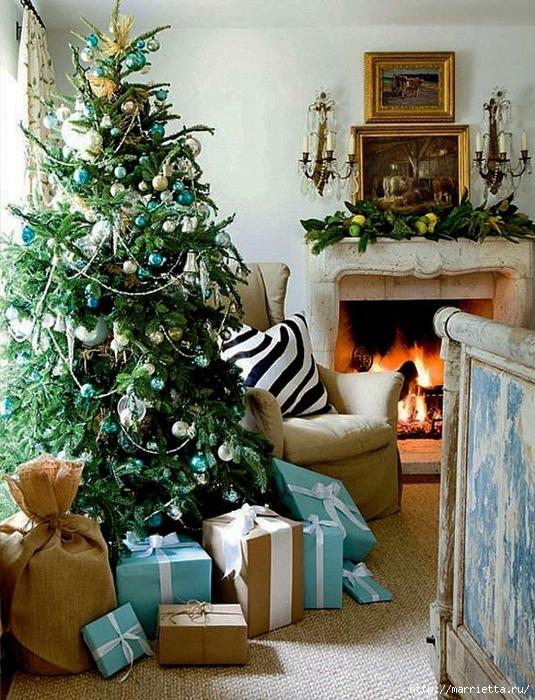 Самые красивые рождественские идеи. Елки в интерьере (18) (535x700, 374Kb)