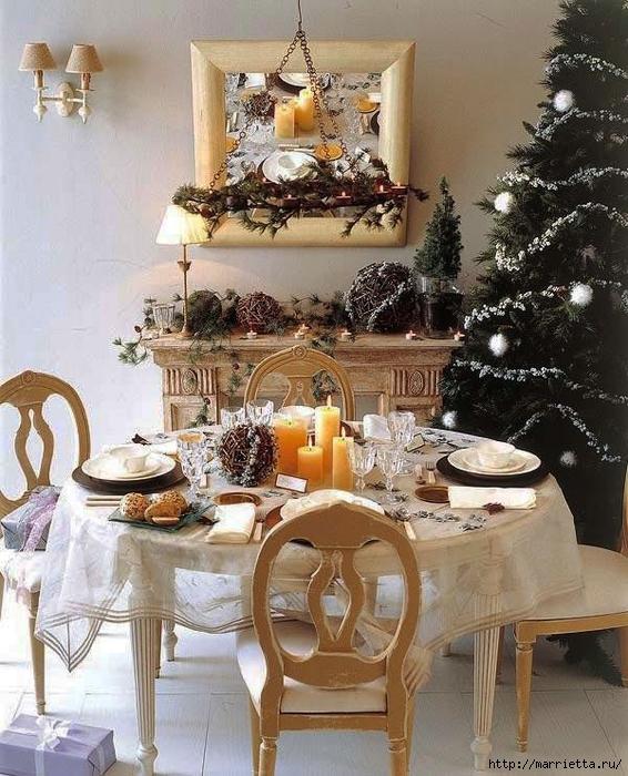 Самые красивые рождественские идеи. Елки в интерьере (20) (566x700, 340Kb)