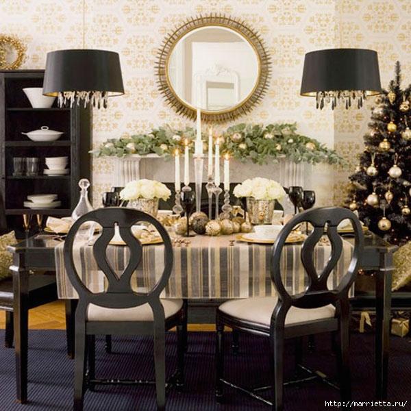 Самые красивые рождественские идеи. Елки в интерьере (22) (600x600, 246Kb)