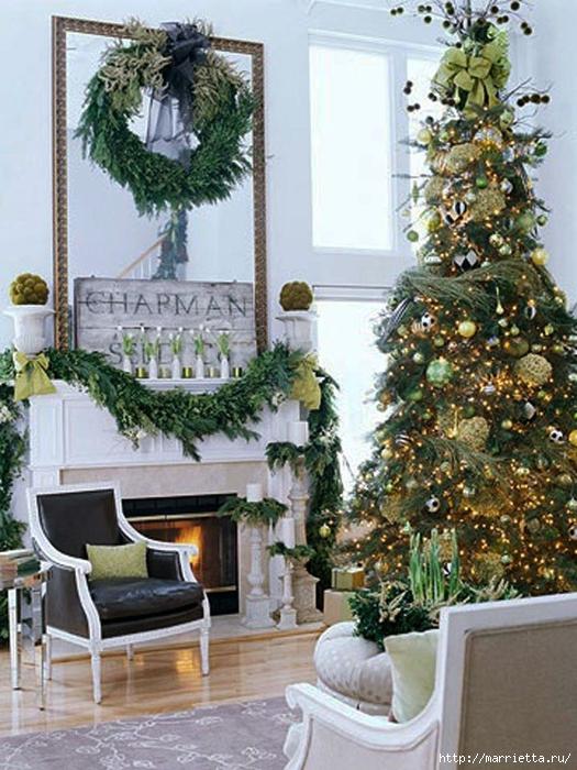 Самые красивые рождественские идеи. Елки в интерьере (23) (525x700, 323Kb)