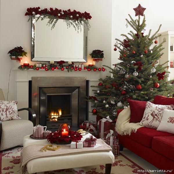 Самые красивые рождественские идеи. Елки в интерьере (25) (600x600, 218Kb)