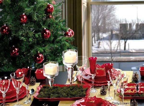 Самые красивые рождественские идеи. Елки в интерьере (27) (600x443, 239Kb)