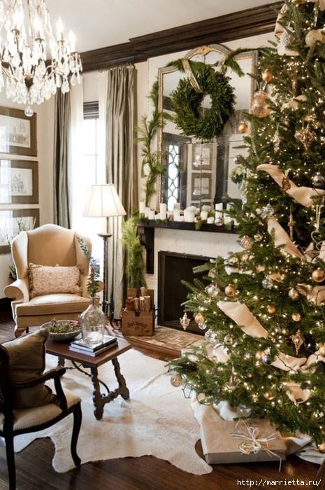 Самые красивые рождественские идеи. Елки в интерьере (29) (465x700, 300Kb)