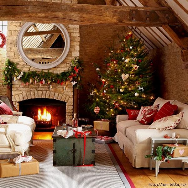 Самые красивые рождественские идеи. Елки в интерьере (31) (600x600, 296Kb)