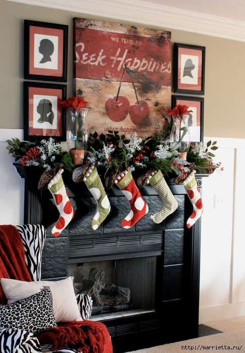 Самые красивые рождественские идеи. Елки в интерьере (33) (485x700, 279Kb)