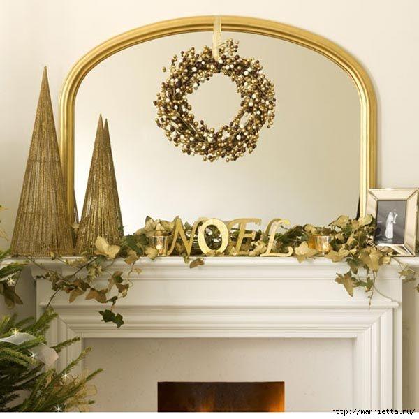 Самые красивые рождественские идеи. Елки в интерьере (35) (600x600, 152Kb)