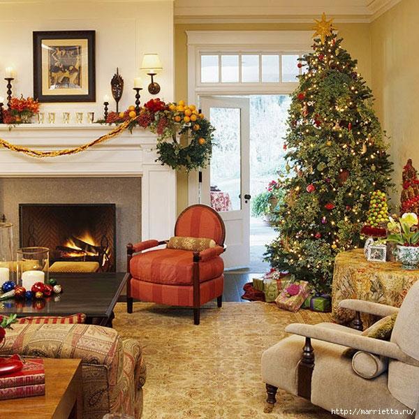 Самые красивые рождественские идеи. Елки в интерьере (37) (600x600, 312Kb)