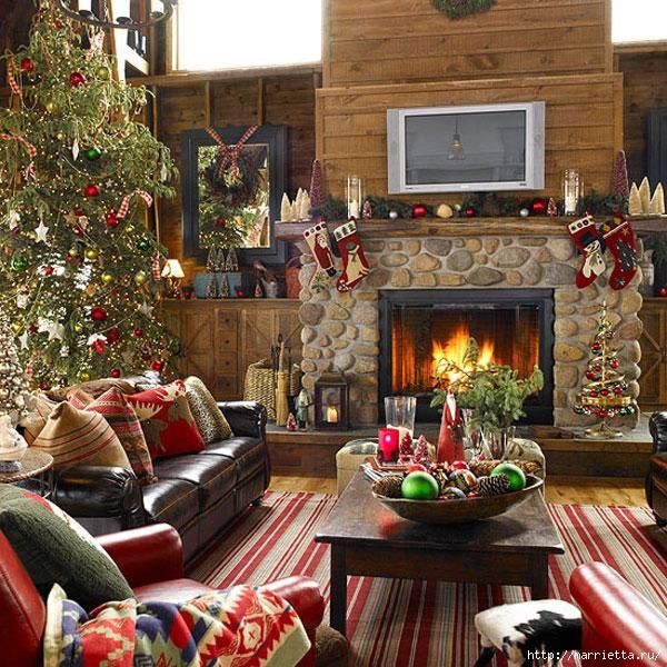 Самые красивые рождественские идеи. Елки в интерьере (44) (600x600, 348Kb)