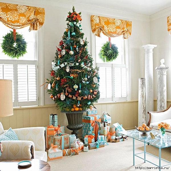 Самые красивые рождественские идеи. Елки в интерьере (46) (600x600, 285Kb)