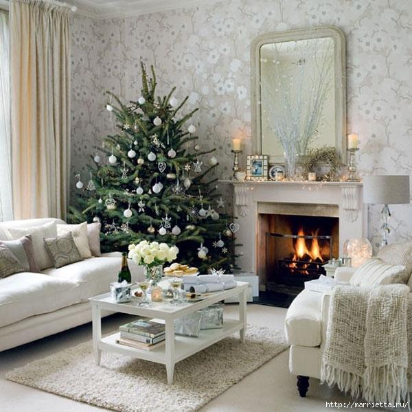 Самые красивые рождественские идеи. Елки в интерьере (48) (600x600, 232Kb)