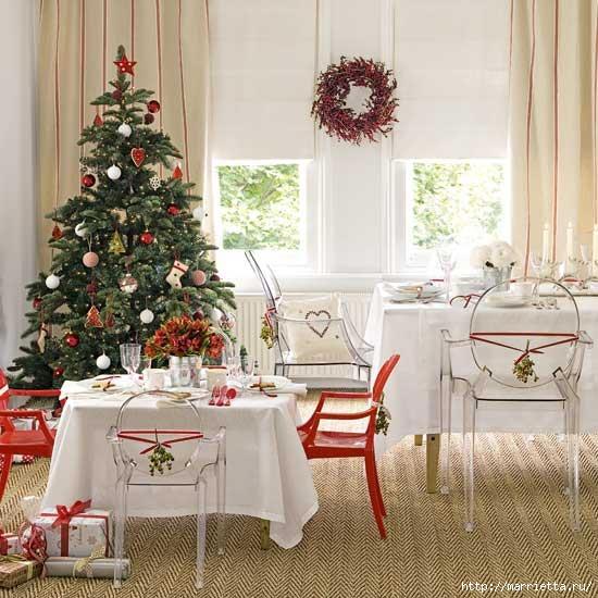 Самые красивые рождественские идеи. Елки в интерьере (52) (550x550, 181Kb)