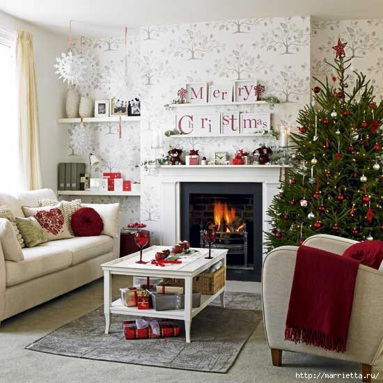 Самые красивые рождественские идеи. Елки в интерьере (54) (550x550, 164Kb)