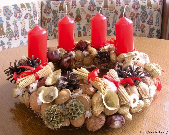 рождественский венок из грецких орехов (15) (700x559, 419Kb)