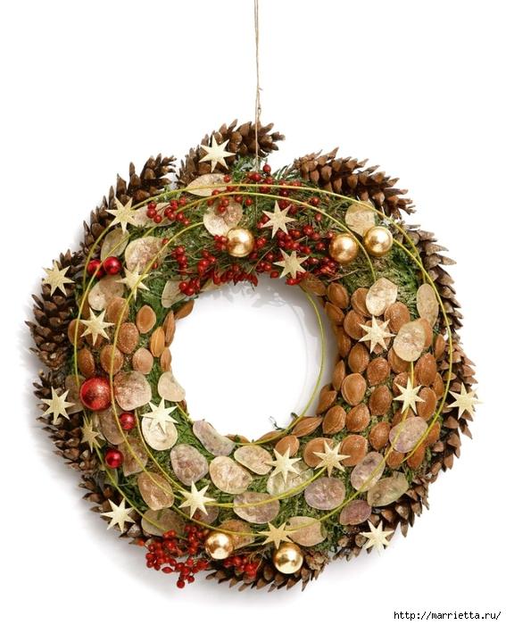 рождественский венок из грецких орехов (16) (567x700, 252Kb)