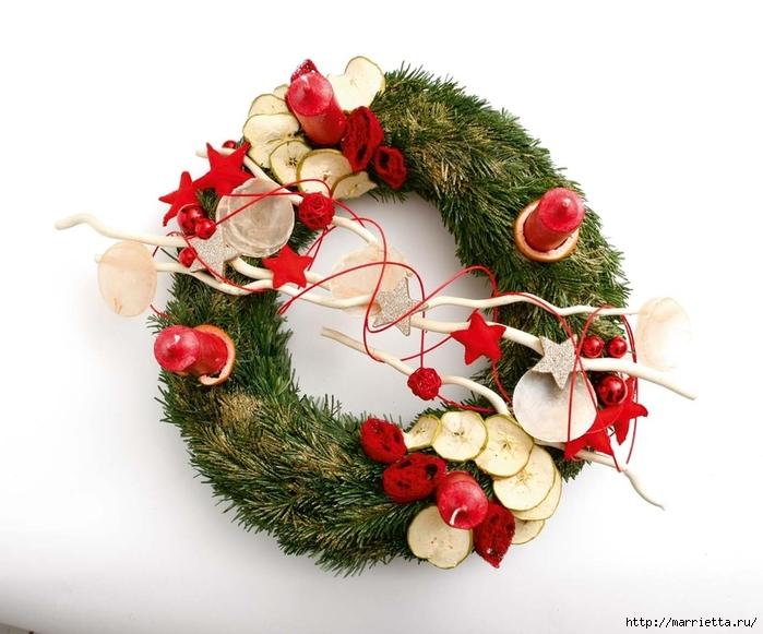 рождественский венок из грецких орехов (18) (700x581, 233Kb)