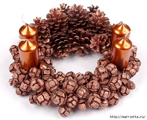 рождественский венок из грецких орехов (25) (500x410, 191Kb)