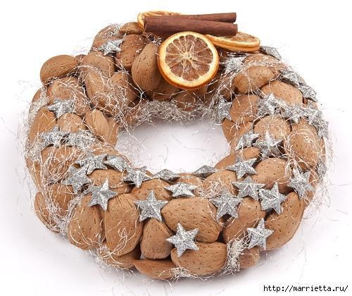 рождественский венок из грецких орехов (27) (500x420, 204Kb)