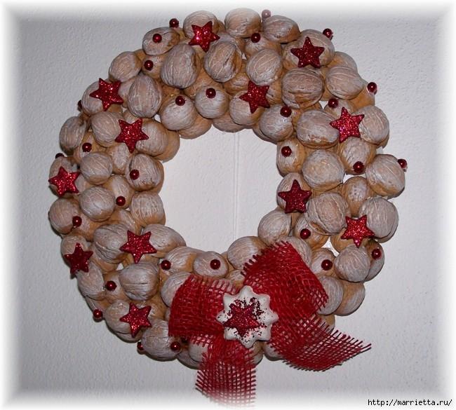 рождественский венок из грецких орехов (29) (650x585, 253Kb)