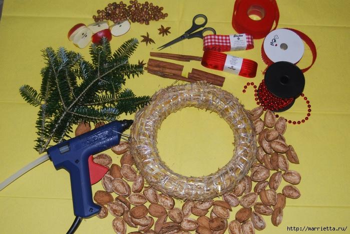 рождественский венок из грецких орехов (33) (700x468, 312Kb)
