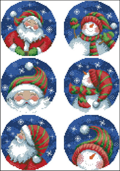 Dimensions_08789-Santa_And_Snowman_Ornaments (400x570, 323Kb)