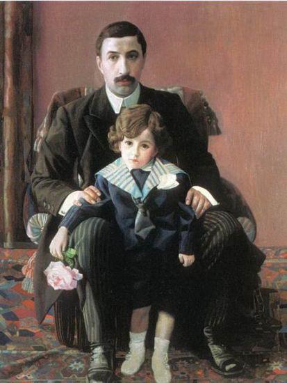 Фил пор Армана Францевича с сыном 1915 (413x550, 38Kb)