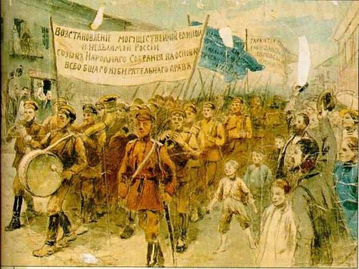 Агитационные плакаты Белого движения. 6 (700x524, 311Kb)